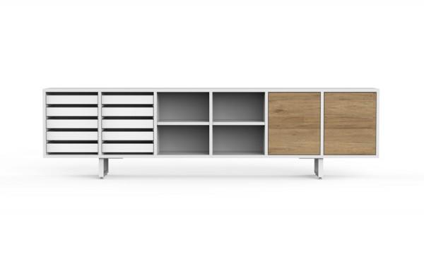Sideboard mit 2 Türen und 10 Tablaren
