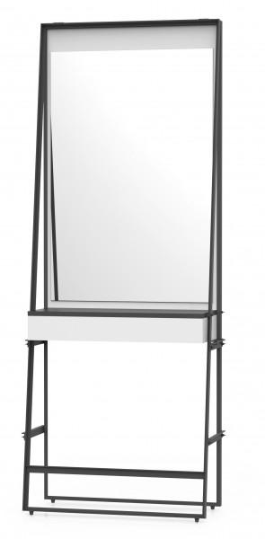 Frisierplatz Wand für 1 Person mit 1 Spiegel