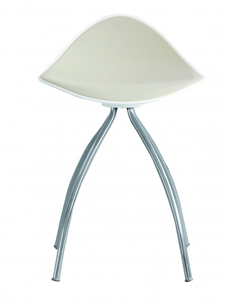 Hocker ONDA 60 white / taupe