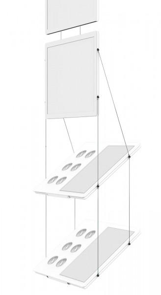 Schrägaufhängung für S LED DIN A3 quer oder DIN A2 hoch
