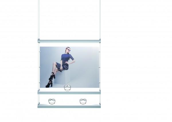Posterpaneel für hängendes Präsentationselement S H