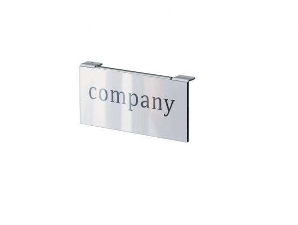 Logoschild für austauschbare Logos