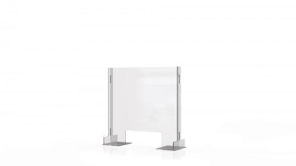 SPIT STOP CLT 6/6 - Trennwand Aufsatz mit Durchreiche für Tische