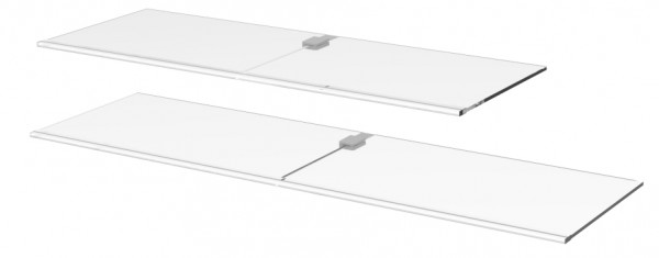 Ablage aus Glas mit LED Beleuchtung