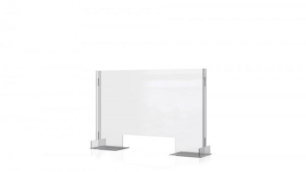 SPIT STOP CLT 9/6 - Trennwand Aufsatz mit Durchreiche für Tische