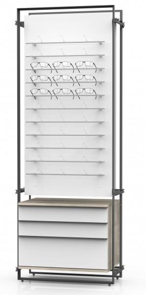 PUR 2 Paneel, kombinierbar mit Stauraum LL Container für LL-POP UP DUO!