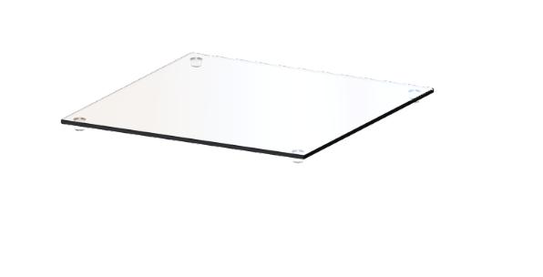 CAROLINE Top-Platte CR-TG 1, aus Klarglas
