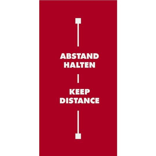 Abstandsteppich Motiv 2: KEEP DISTANCE