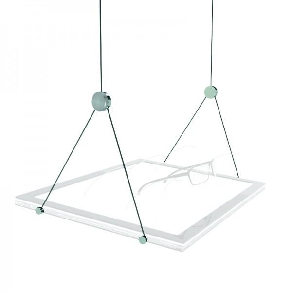 Slanted suspension for S LED