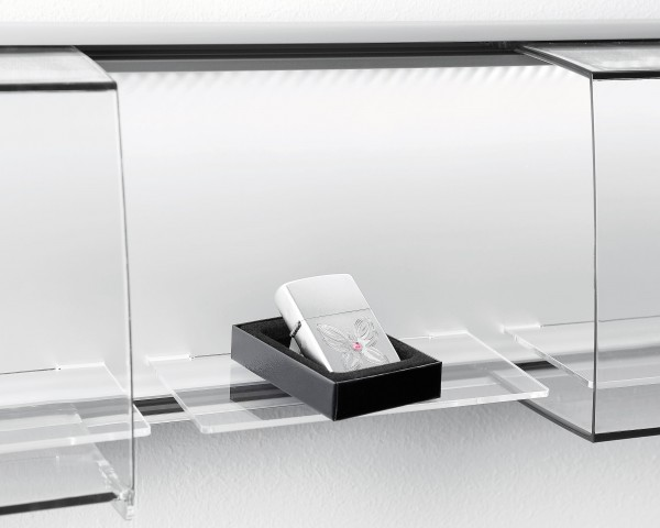 SLIDE Fachablage, einfach, aus Acrylglas