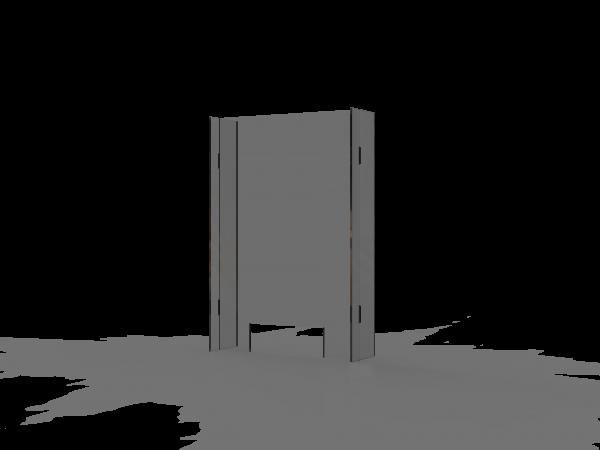SPIT STOP C 6/9 - Trennwand Aufsatz mit Durchreiche für Theken