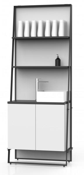 Labor Wandpaneel, mit Ablagen, Korpus, Arbeitsfläche & Waschbecken