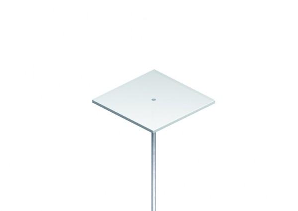 P.O.S. acrylic glass shelf, square