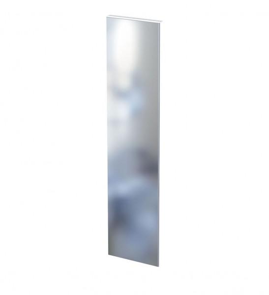 Spiegel C, rechteckig, auf Grundplatte aus Aluminium, weiß pulverbeschichtet