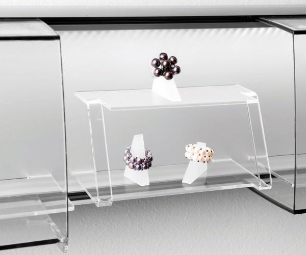 SLIDE Fachablage, 2-fach, Acrylglas