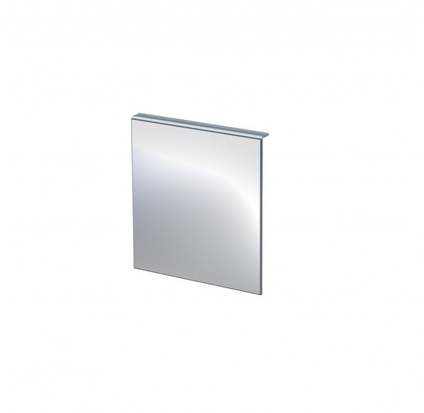 Spiegel, rechteckig, auf Grundplatte aus Aluminium, weiß pulverbeschichtet