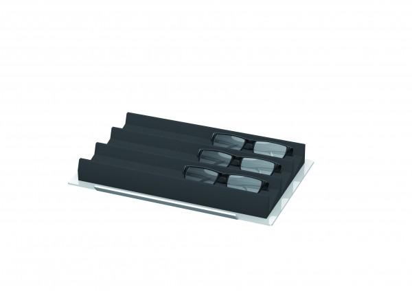 Tablar aus Acrylglas, mit Schaumstoffauflage