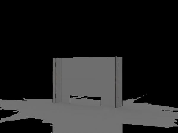 SPIT STOP C 9/6 - Trennwand Aufsatz mit Durchreiche für Tische